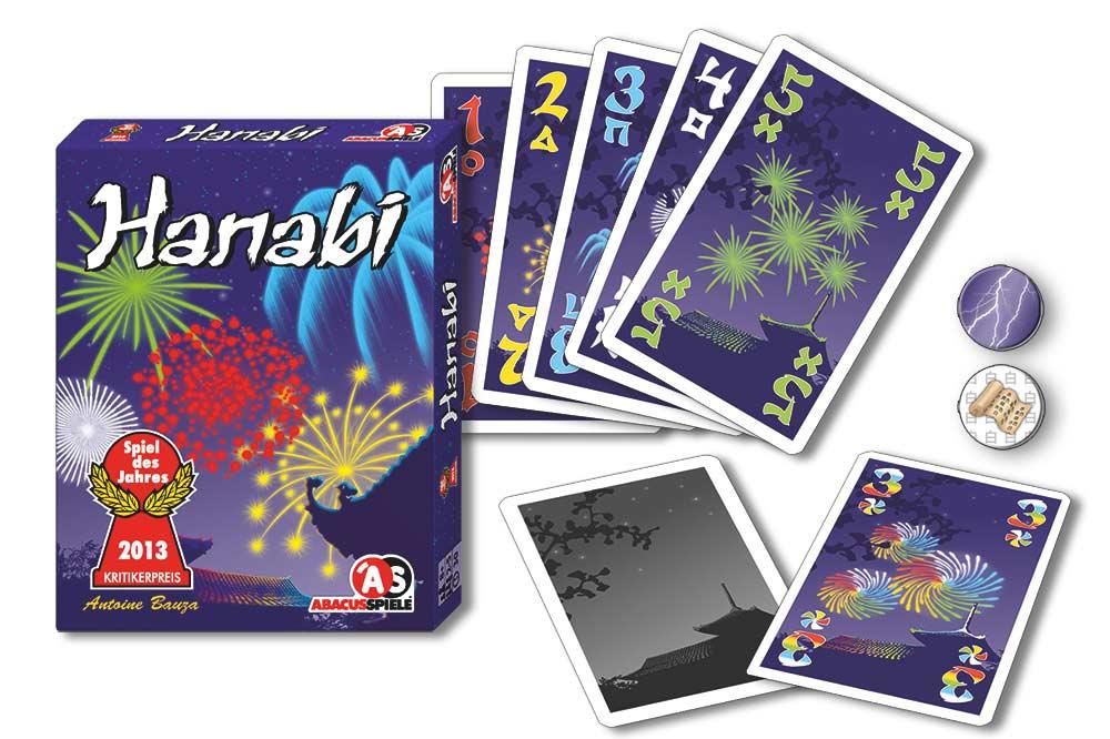 Hanabi Spielmaterial