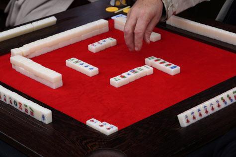 Spielsituation bei Mah Jongg